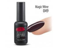 Гель-лак PNB №049 Magis Wine (темный коричнево-бордовый, эмаль), 8 мл