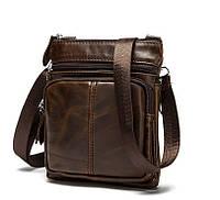 Оригинальная мужская кожаная сумка BEXHILL коричневого цвета
