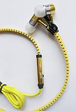 Наушники Zipper с микрофоном, Yellow, фото 2