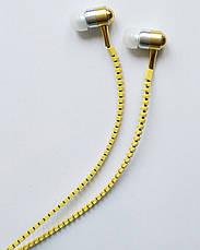 Наушники Zipper с микрофоном, Yellow, фото 3