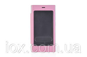 Розовый чехол-книжка со смотровым окошком для Xiaomi Mi3