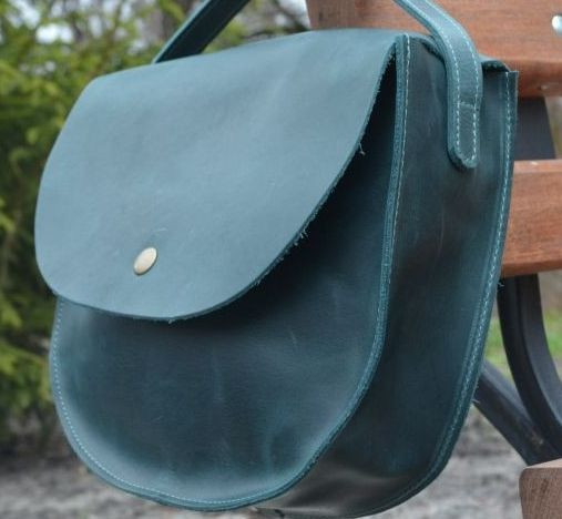 Женская сумка из кожи Babak 874077 темно-зеленый