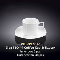 Чашка кофейная с блюдцем (Wilmax, Вилмакс, Вілмакс) WL-993041