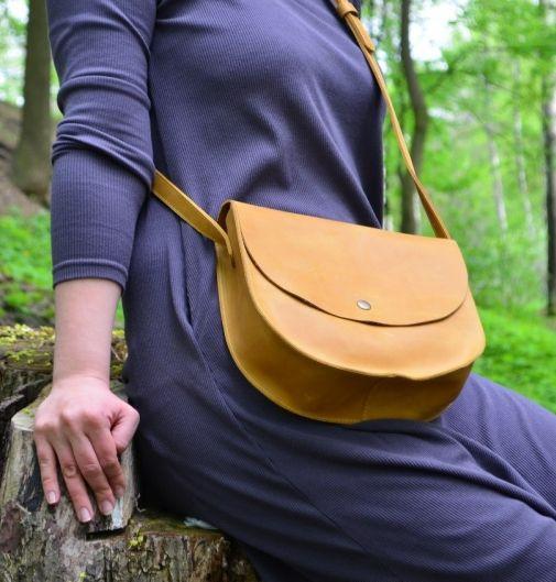 Женская сумка из натуральной кожи Babak 874079 рыжий