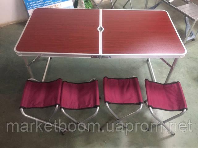 Туристический набор мебели складной коричневый