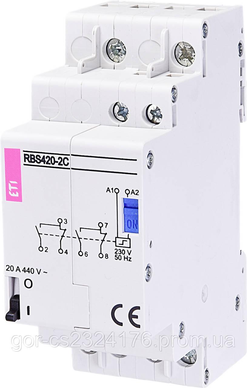 Контактор импульсный RBS 420-2C-230V AC (бистабильное реле)