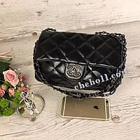 Женская сумка клатч Chanel красная подкладка мягкая