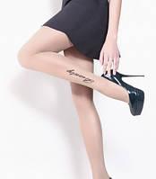 Колготки женские с рисунком эффектом тату FLY 20 ден (71)