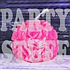 Свеча Роза круглая, насыщенный розовый 6,5 см