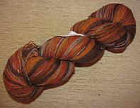 Цветная пряжа Кауни Grey Orange 800 Пряжа из 100% овечьей шерсти подходит для ручного вязания рукоделия Кауни
