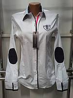Рубашка женская с длинным рукавом Th 85 белого цвета S