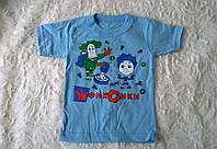 Футболка для Мальчика Фиксики Цвет Голубой Рост  86-92 см