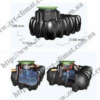 Сбор дождевой воды, комплект Graf бак Platin 3000 л с фильтром