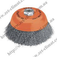 Насадка для УШМ щетка Truper металическая чашкообразная (д 7,5 см , посадка М14)