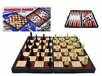 Магнитный игровой набор 9831, шахматы, шашки, нарды, 3 в 1, на магнитах, в коробке, интеллектуальное развитие