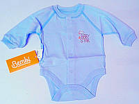 Боди Для малышей Боди 56 см 1-2 м Голубой  01069001130 Интерлок БД69г Бэмби Украина