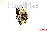 Женские наручные часы Hublot рептилия Золото с камнями