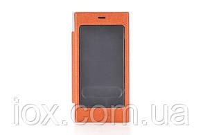 Оранжевый чехол-книжка со смотровым окошком для Xiaomi Mi3