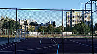 Спортивные площадки с искусственным покрытием (под ключ с забором)