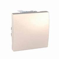 SСHNEIDER ELECTRIC UNICA Выключатель кнопочный одноклавишный 2 модуля 10А  Слоновая кость