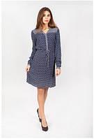 Легкое женское платье с длинным рукавом