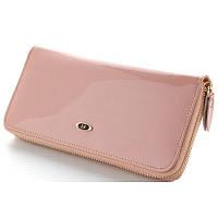 Модный женский кожаный кошелек клатч лаковый SТ ВС38 Pink, фото 1