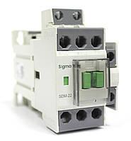 Пускатель контактор магнитный постоянный ток на 22 ампер 11 кВт, кат управл 24 48 вольт