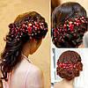 Тіара весільна для волосся, гребінець Кармен прикраси, фото 2