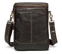 Мужская кожаная сумка BEXHILL в винтажном стиле коричневая