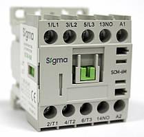 Миниконтактор 3-х полюсный, доп.контакт 1НО, 2,2 kW 6А АС-3 цена купить