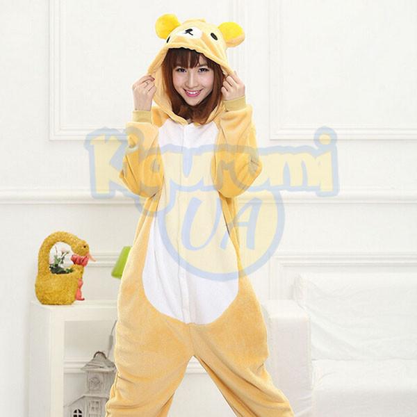 Пижама кигуруми Медведь Рилаккума  продажа 597e28499dfdc