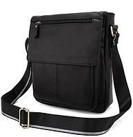 Мужская кожаная сумка-мессенджер BEXHILL черная