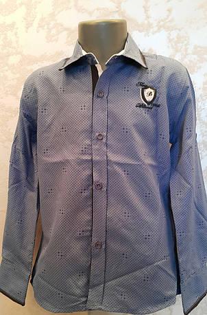 Рубашка на мальчиков 110,116,122,128 роста Индиго, фото 2