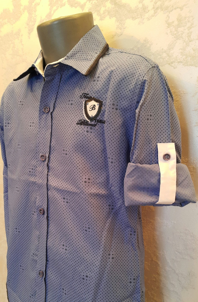 Рубашка на мальчиков 110,116,122,128 роста Индиго