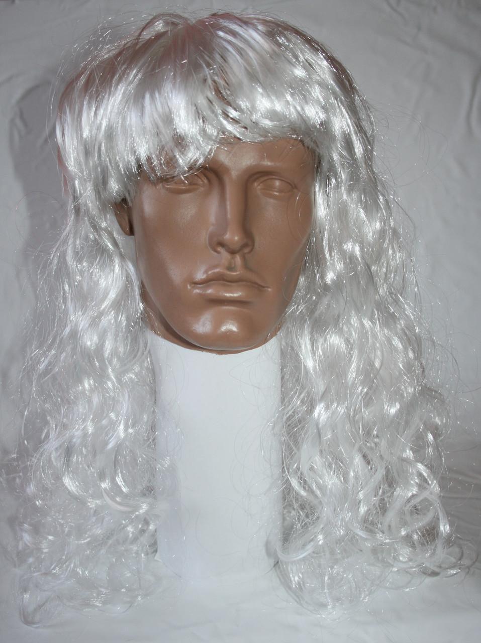 Парик карнавальный белый