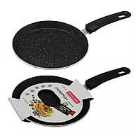 Сковорода блинная с мраморным покрытием 22 см Kamille 0619MR
