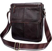 Мужская кожаная сумка-мессенджер BEXHILL коричневая