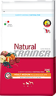 Trainer Natural Super Premium Adult Medium Con Pollo Fresco, Riso & Aloe Vera 12,5 кг для средних пород