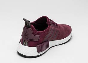 Кроссовки Adidas NMD R1 Burgundy Suede, фото 2