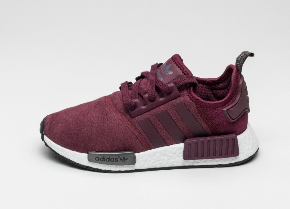Кроссовки Adidas NMD R1 Burgundy Suede