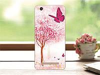 Оригинальный чехол панель накладка для Xiaomi Redmi 4A с картинкой розовое дерево