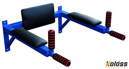 Брусья настенные с подлокотниками (синие) 2 в 1, фото 2