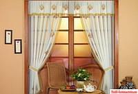 Шторы для кухни Kayaoglu Dorre 150х200 кремовый
