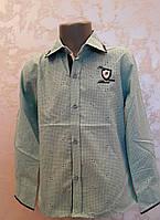 Красивая рубашка на мальчиков 110,116,122,128 роста Мята