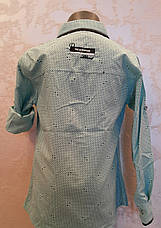 Рубашка нарядная на мальчиков 110,116,122 роста Мята, фото 3