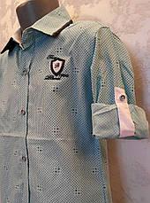 Рубашка нарядная на мальчиков 110,116,122 роста Мята, фото 2