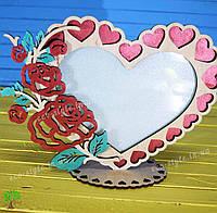 Фоторамка сердце, подарок на день святого валентина, подарок на 14 февраля