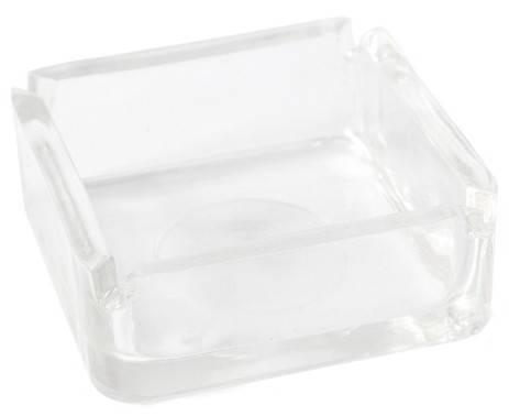 Пепельница стеклянная квадратная, фото 2