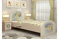 Удобная ультрасовременная сказочная кровать «М+Д» ТМ «Вальтер - С» Венге светлый