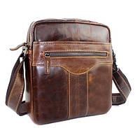 Мужская кожаная сумка через плечо BEXHILL в винтажном стиле коричневая
